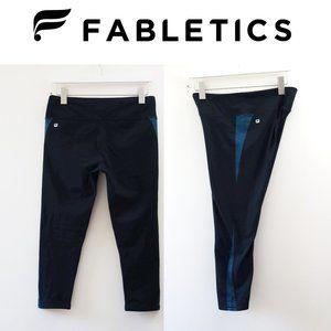 EUC, Fabletics Black High-Rise Capri Legging, M